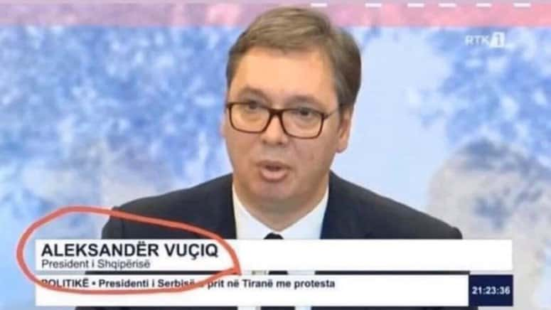 ŠOK NA DRŽAVNOJ TELEVIZIJI: Albanci ''prisvojili'' Vučića (FOTO) 1