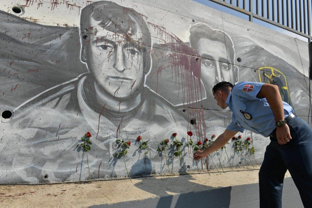 NAPAD NA SRBIJU: Oskrnavljen mural HEROJIMA sa KOŠARA!(FOTO) 1
