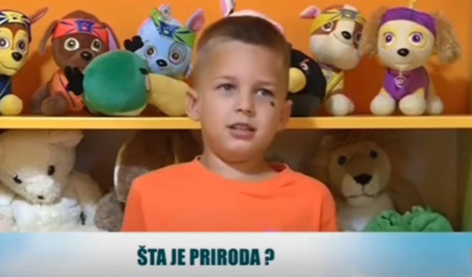 """(VIDEO)HIT 1: PODGORIČKI mališan: """"Šta je priroda? Priroda je da smo SRBI"""" 1"""