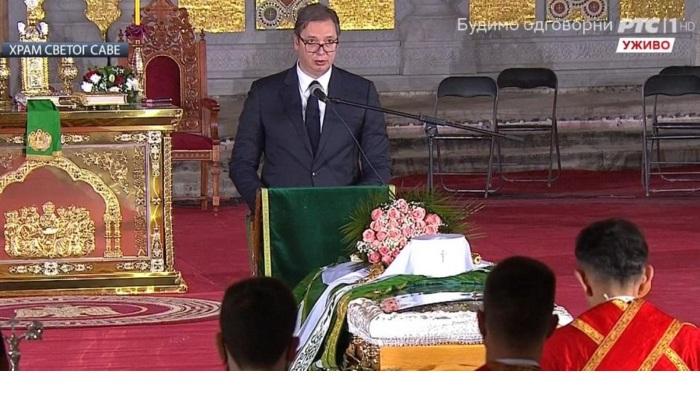 SRAMNI GOVOR VUČIĆA: Privatizacija sahrane Patrijarha 1
